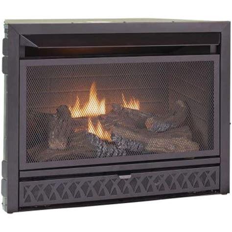 dual fireplace insert procom 29 in vent free dual fuel firebox insert fbnsd28t