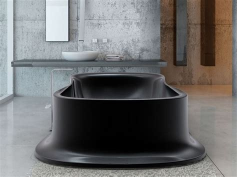 black freestanding bathtub bathe in black freestanding volcano bathtub by zaditaly