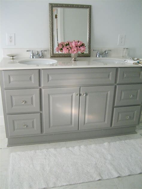 Painted Bathroom Furniture Gray Bathroom Vanities On
