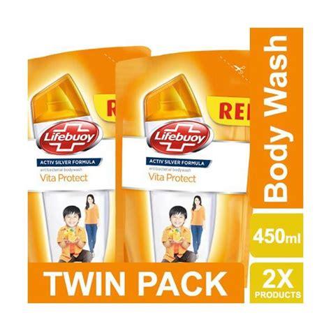 Sabun Lifebuoy Cair Botol jual lifebuoy vita protect refill sabun cair pack 450 ml harga kualitas