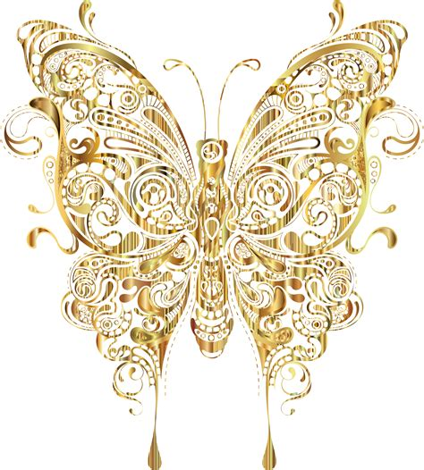 Butterfly Gold clipart abstract butterfly ii gold