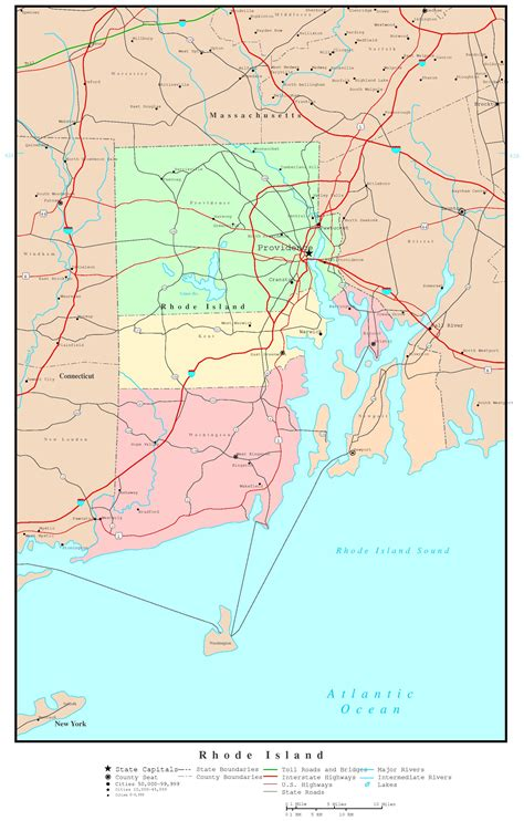 map of ri rhode island political map