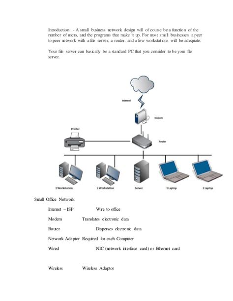 small home network design a small business network design