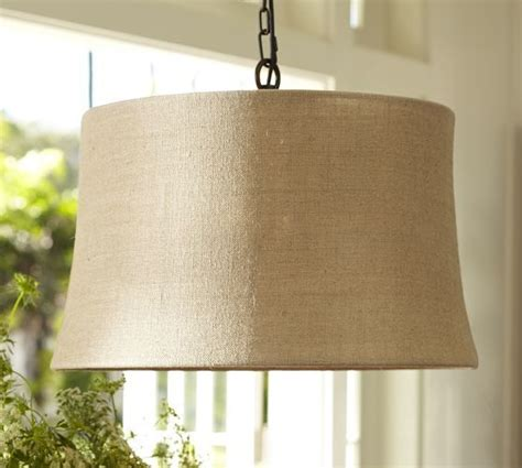 burlap drum shade pendant pottery barn kitchen ideas