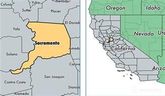 sacramento county california map of sacramento county
