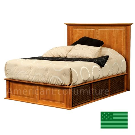 beds made in usa amish claremont platform bed solid wood made in usa american eco furniture
