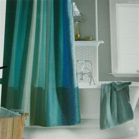 blue shower curtains target aquamarine multistripe blue aqua green fabric