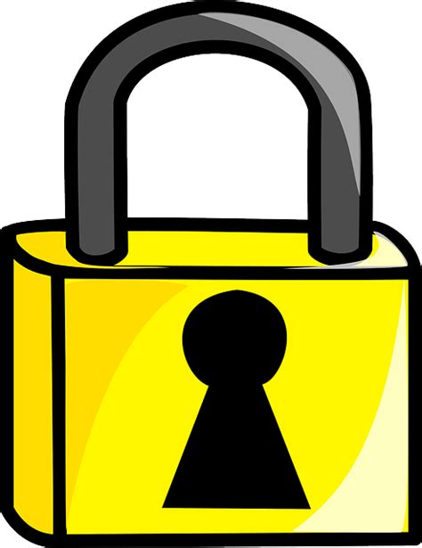 lock clip lock locked metal 183 free vector graphic on pixabay