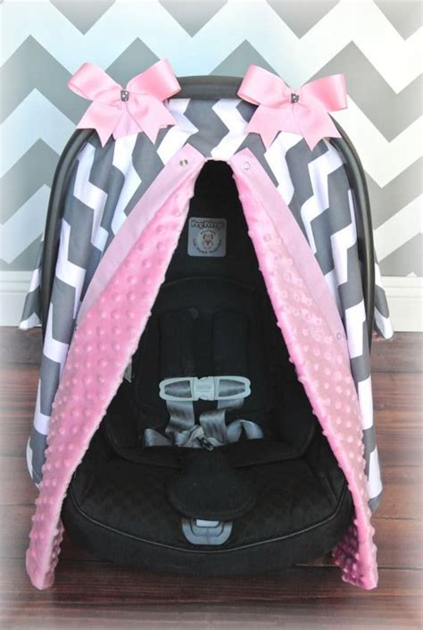 pink and gray car seat covers minky carseat canopy car seat cover light pink gray