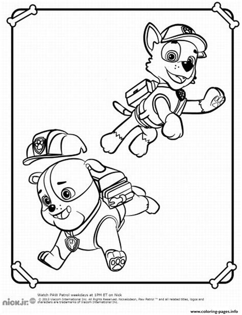 paw patrol blank coloring pages to print paw patrol coloring pages printable coloring home