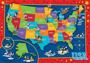 disney u s map puzzle jigsaw puzzle puzzlewarehouse