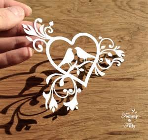 Paper Cutting Design Templates by Svg Pdf Birds Design Papercutting Template