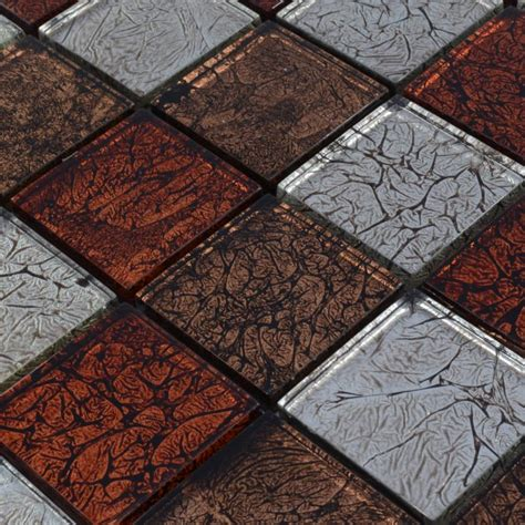 crystal glass backsplash tiles maple leaf glass mosaic flooring zz009