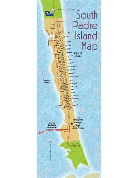 map of texas south padre island south padre island map south padre island texas mappery