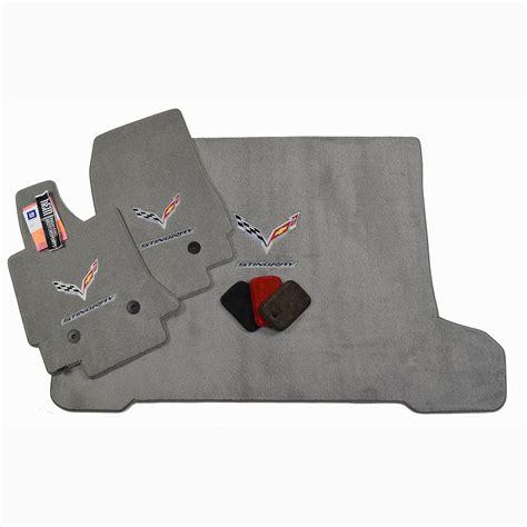 chevrolet corvette c7 floor mats set gray