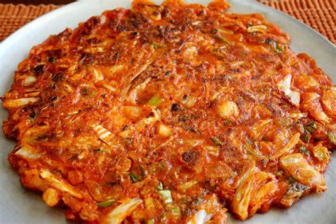 Pancake Flour by Kimchi Pancake Kimchijeon Recipe Maangchi Com