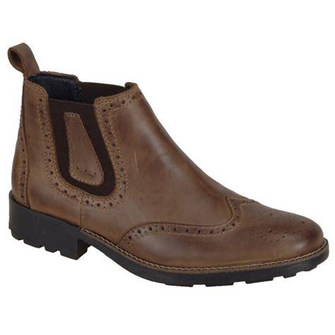 mens brogue chelsea boots rieker mens 36081 25 brown brogue chelsea boots