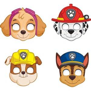 paw patrol party masks assorted 8 count walmart
