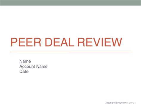 deal review template pdr presentation template