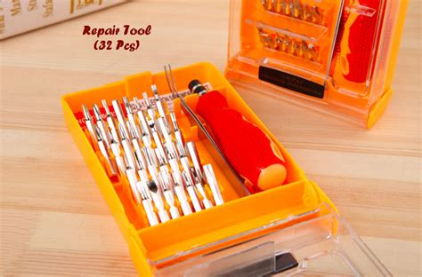Obeng Set Elektronik obeng set toolkit lengkap 32 in 1 obeng set toolkit 32 in1 plus pinset obeng hp aada0de0