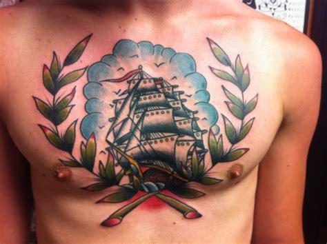 tattoo chest ship pirate ship chest tattoo tattoos pinterest