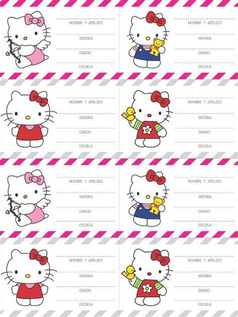 vectores para etiquetas gratis para imprimir imagui etiquetas escolares hello kitty para imprimir gratis