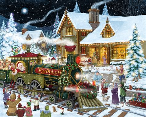 free printable christmas jigsaw puzzles for adults santa s express jigsaw puzzle puzzlewarehouse com
