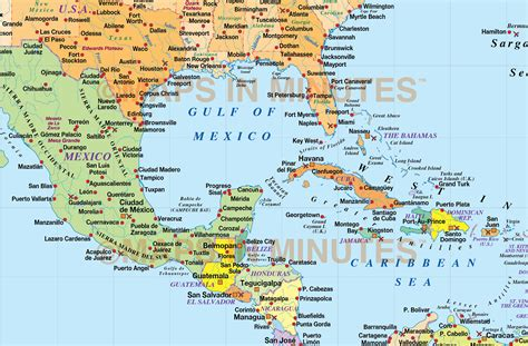 map of us and caribbean islands digital vector central america caribbean political map