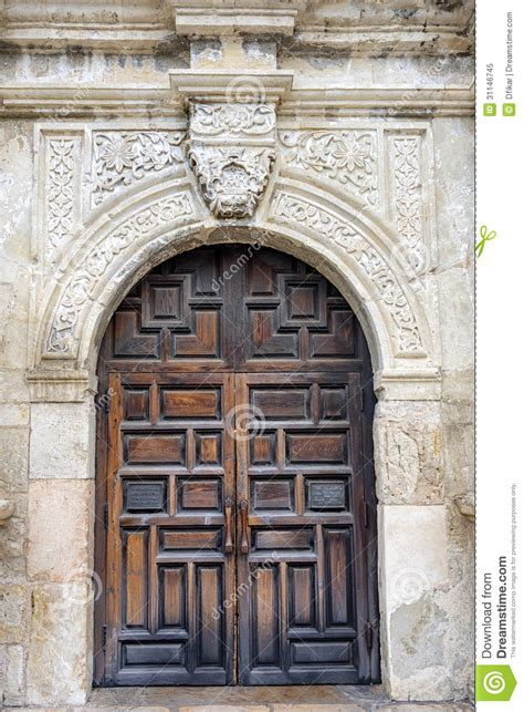 Alamo Doors by The Alamo S Front Door Stock Image Image Of City