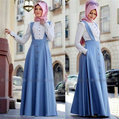 Dress Overall Muslim Wanita Farah Overall 1 Model Baju Maxi Dress Remaja Holidays Oo