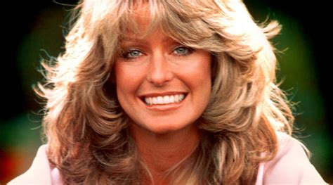 updated farah faucet haircut suit over andy warhol painting of farrah fawcett may move