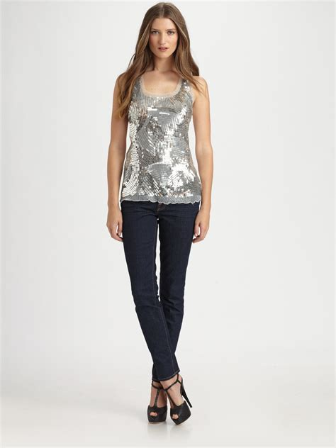 Rocking Fashion By Royal Underground by Royal Underground Disco Sequin Top In Metallic Lyst