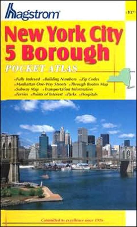 nyc five boro map by vandam laminated pocket city map w attractions in all 5 boros of ny city manhattan the bronx st island w new subway map 2017 edition streetsmart books new york city 5 borough pocket atlas new york pocket map