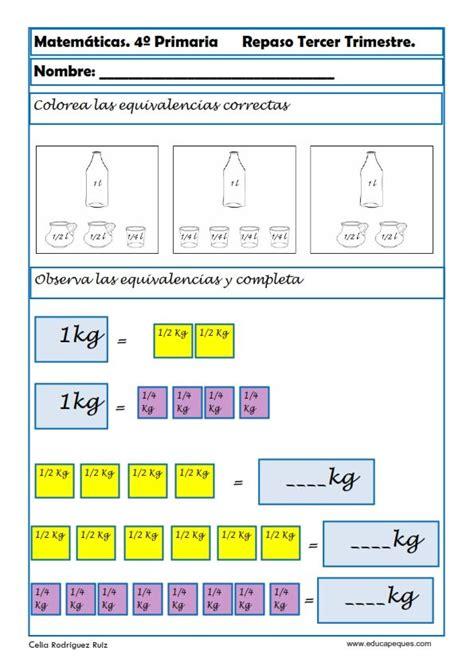 matematicas cuarto de primaria ejercicios fichas de matem 225 ticas cuarto primaria matem 225 ticas 4