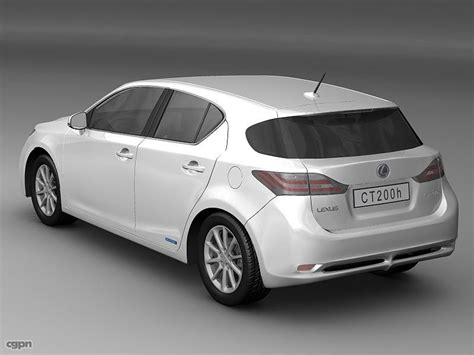 lexus hatchback 2011 2011 lexus ct 200h luxury hatchback 3d model cgstudio