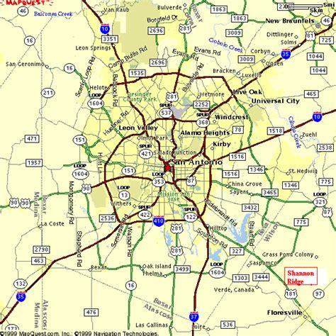 san antonio texas county map srmap