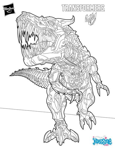 transformers movie coloring page coloriage transformers dinosaure
