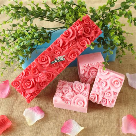 Cake Soap Mold Silicone flower silicone soap molds rectangle soap mold loaf
