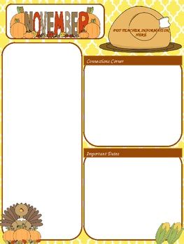 free november newsletter templates free november newsletter template by megan alessi tpt