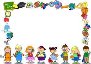Cartoon school supplies