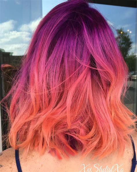 sunset hair color sunset hair by xostylistxo hair that i