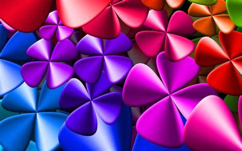 fiori colorati scarica sfondi fiori colorati 3d creativo arte monitor