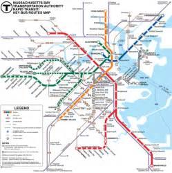 Mta Light Rail Schedule The T Mapa Do Metr 244 De Boston Estados Unidos