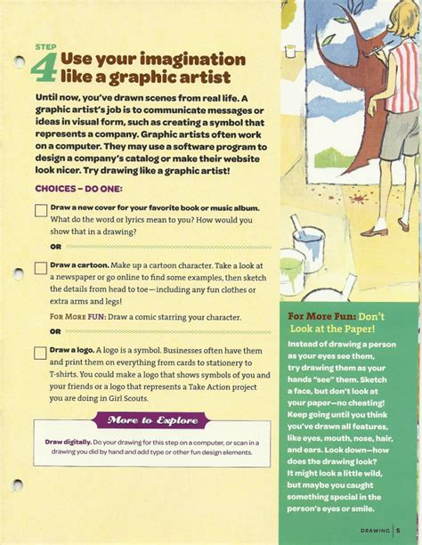 Junior Scout Drawing Badge Requirements 2012