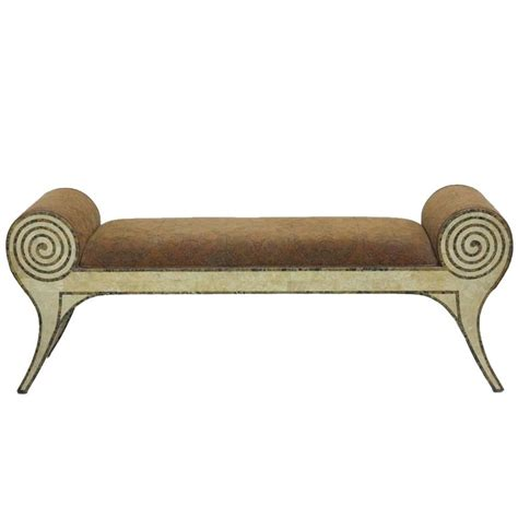 scroll arm bench tessellated marble scroll arm bench for sale at 1stdibs