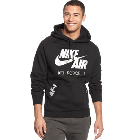 Hoodie Sweater Hardwell On Air Fashion Family 1 nike air 1 hoodie in black for lyst