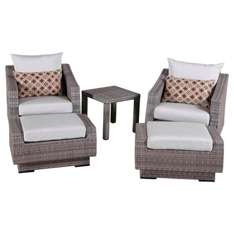patio chair and ottoman set martha stewart living lake adela weathered gray 2 piece