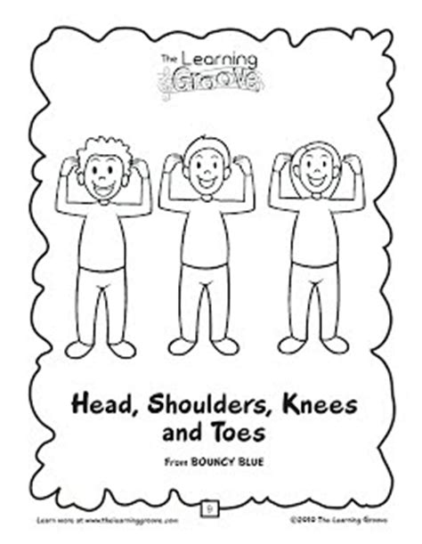 Shoulders Knees And Toes Coloring Page shoulders knees toes tlg children s songs and activities