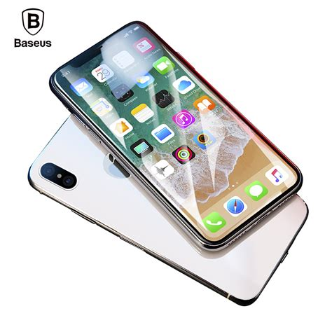 Cafele Ultra Thin Iphone X Free Tempered Glass Original baseus screen protector for iphone x tempered glass ultra thin anti blue light screen front