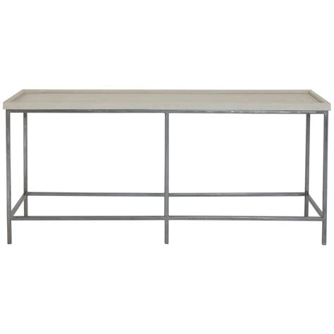 shagreen console table stefano regency faux shagreen satin steel